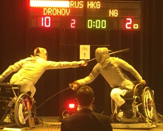 Victor Drovnov delivered a gold medal for Russia in the under-23 mixed sabre event ©IWAS