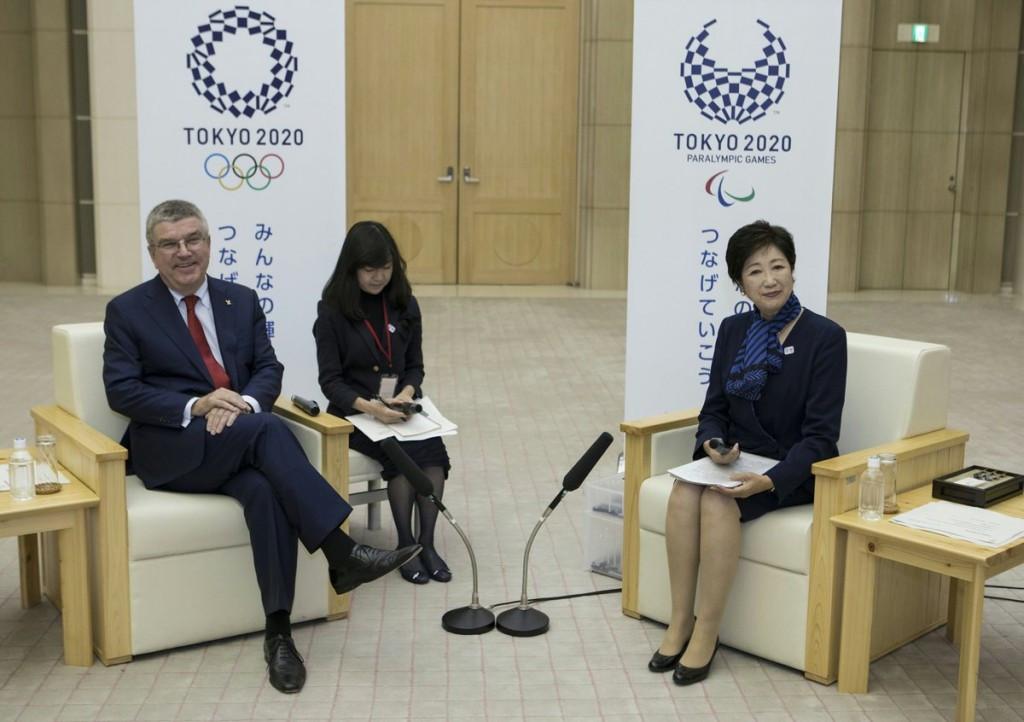 IOC President Thomas Bach and Tokyo Governor Yuriko Koike met in Tokyo today ©IOC