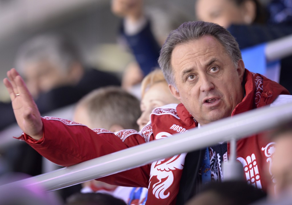 Vitaly Mutko has been personally accused of being involved in state-sponsored doping in Russia ©Getty Images