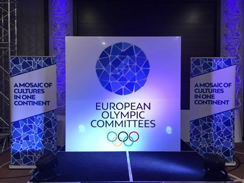 The new European Olympic Committees logo was commissioned by Patrick Hickey before hew as forced to temporarily step down as President following his arrest during Rio 2016 ©NOCBelarus