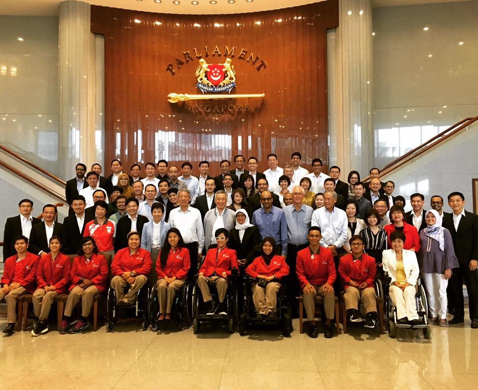 Singapore Government welcomes Paralympians to Parliament to celebrate Rio 2016 success