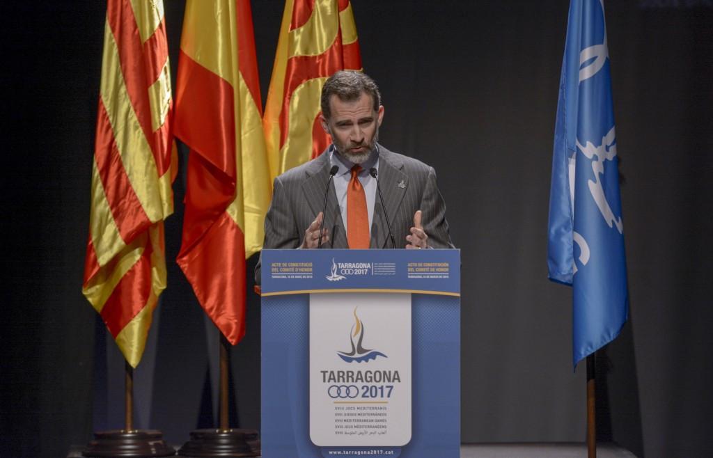 King Felipe VI of Spain has backed the Mediterranean Games ©Getty Images