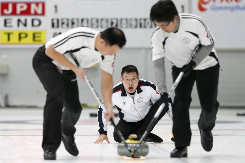 Chinese Taipei's men qualified for the semi-finals for the first time as round-robin play concluded at the Pacific-Asia Curling Championships ©WCF/Richard Gray