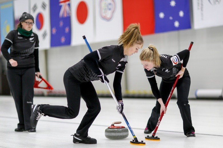 New Zealand's women earned the final playoff spot at the Pacific-Asia Curling Championships ©WCF