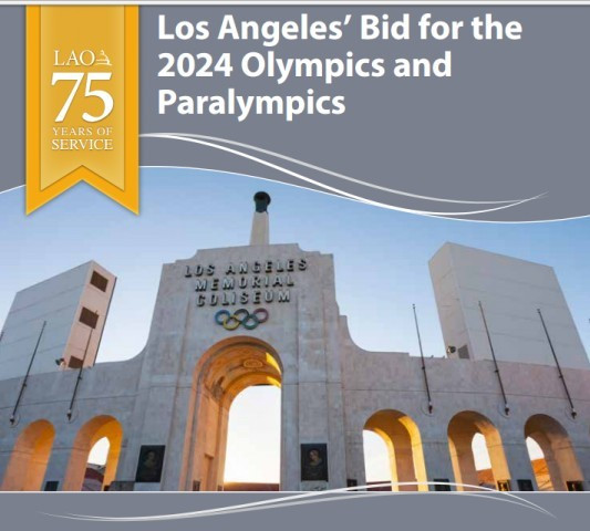 A report has been released which supports Los Angeles' 2024 Olympic and Paralympic Games bid as financially secure ©LAO