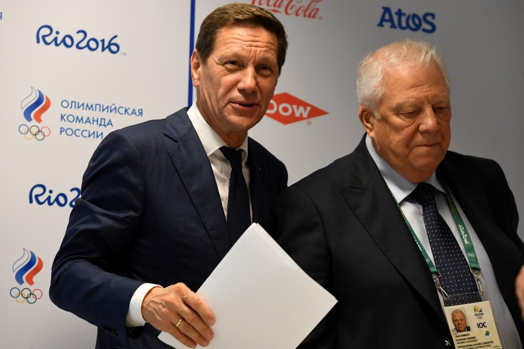 Alexander Zhukov, left, and Vitaly Smirnov met with the IOC Disciplinary Commission this week in Lausanne ©Getty Images