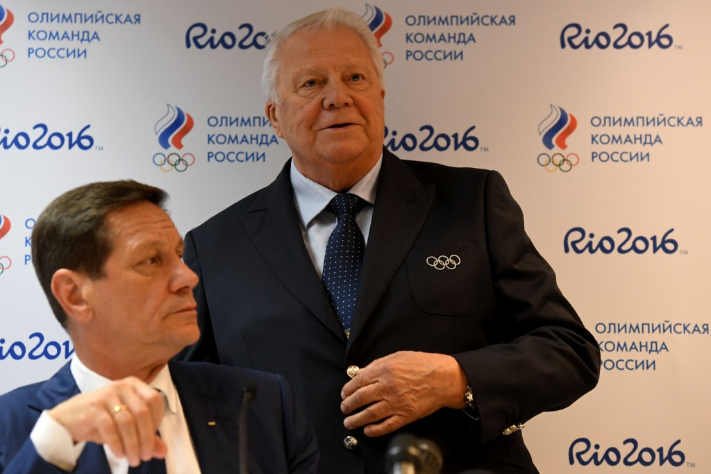 Alexander Zhukov, left, and Vitaly Smirnov were briefly in Lausanne for IOC meetings last week ©Getty Images