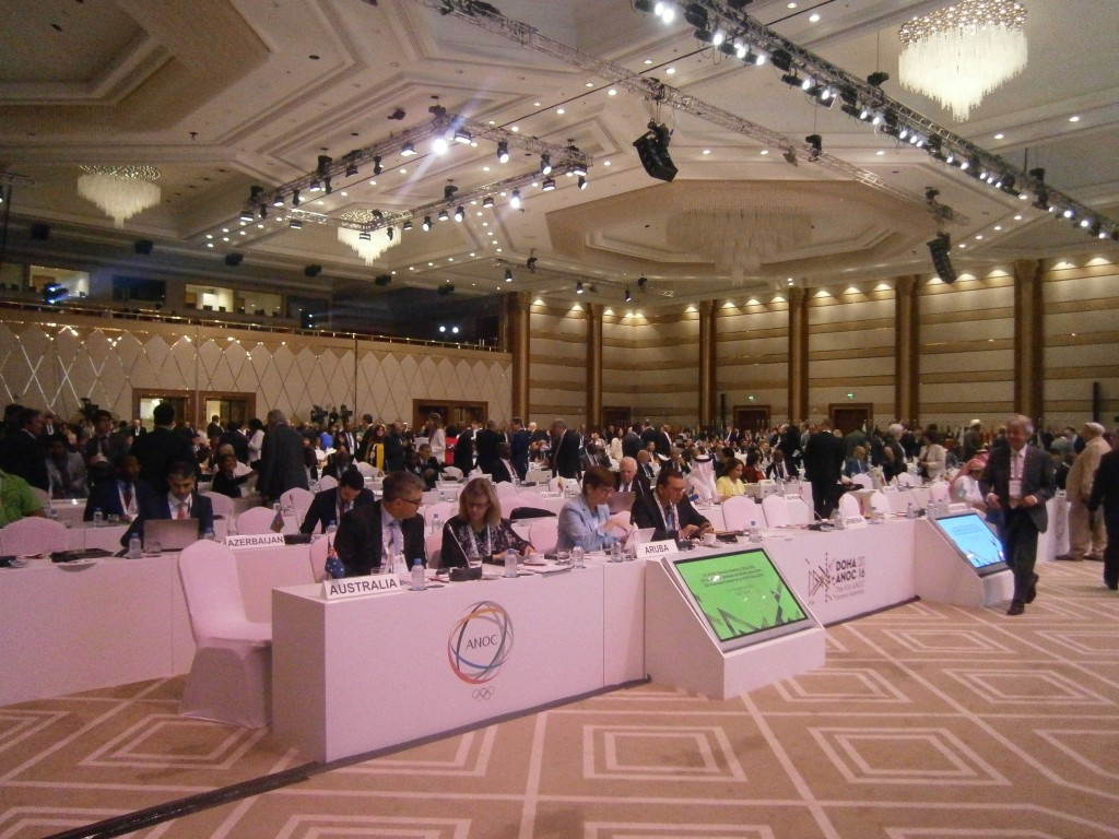 Delegates pictured during the ANOC General Assembly ©Twitter