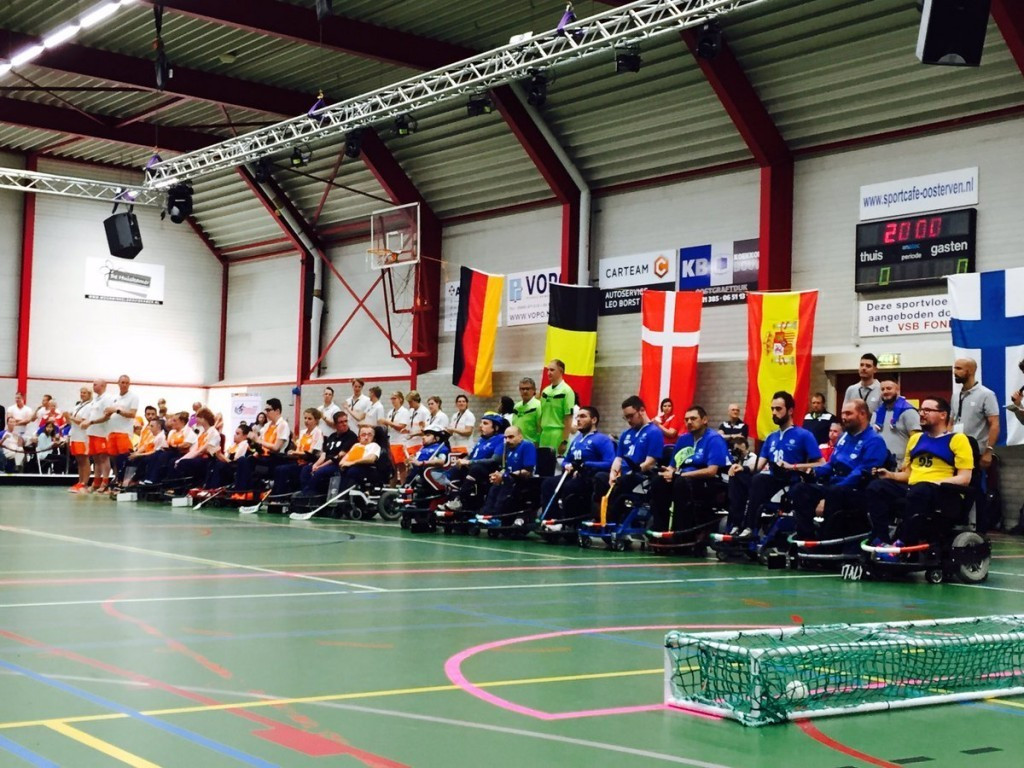 The Dutch powerchair hockey team retained their European title in July ©IWAS