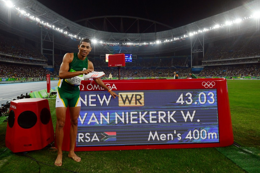 Wayde Van Niekerk broke the 400m world record in the Rio 2016 Olympic final ©Getty Images