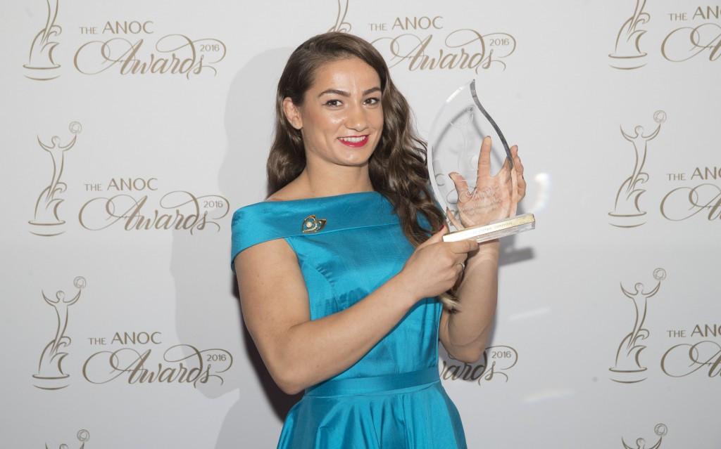 Majlinda Kelmendi was a recipient of a breakthrough NOC award ©ANOC