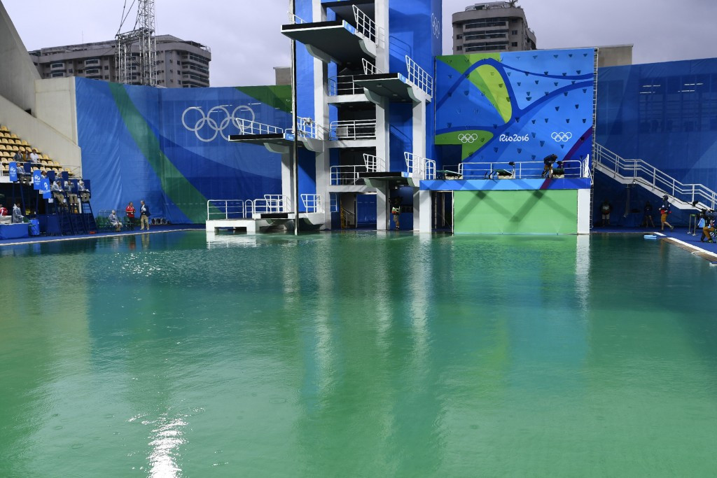 A green diving pool caused Rio 2016 embarrassment during the Olympic Games ©Getty Images
