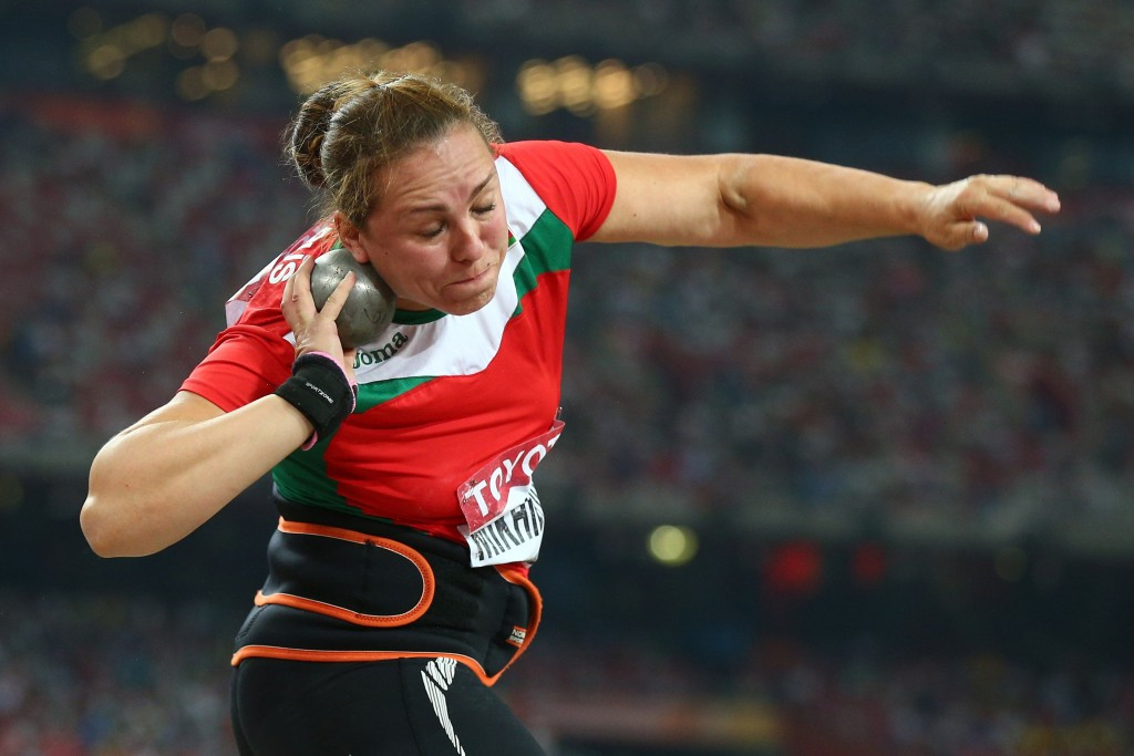 Natallia Mikhnevich of Belarus is set to lose her Olympic silver medal in shot put ©Getty Images