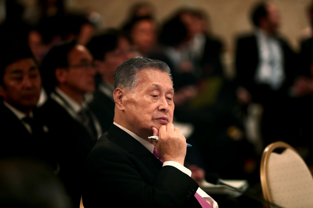 Yoshirō Mori announced a budget cap of ¥2 trillion during the meeting today ©Getty Images
