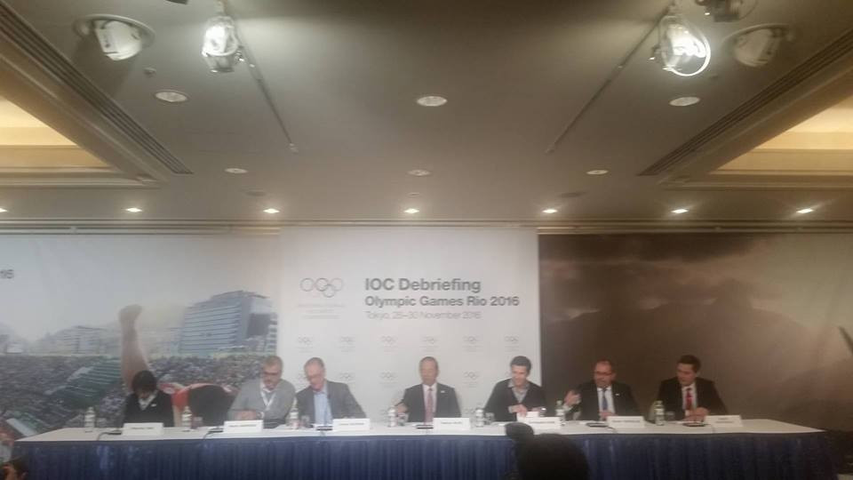 IOC and Rio 2016 officials were speaking at the end of a three day debrief in Tokyo ©ITG