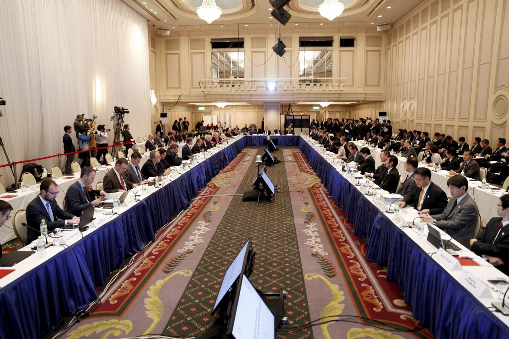 A first meeting of the Tokyo 2020 Coordination Commission is taking place since July 2015 ©Tokyo 2020/Shugo Takemi