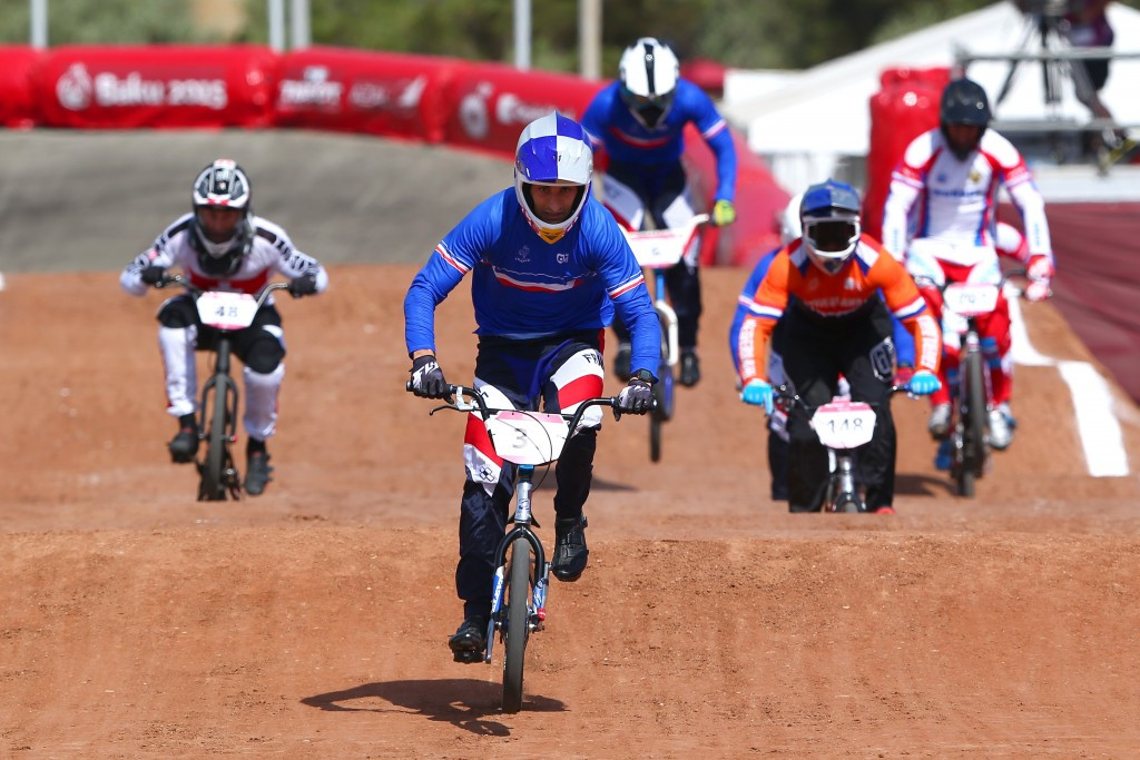 Daudet and Christensen secure golden end to Baku 2015 European Games with BMX victories