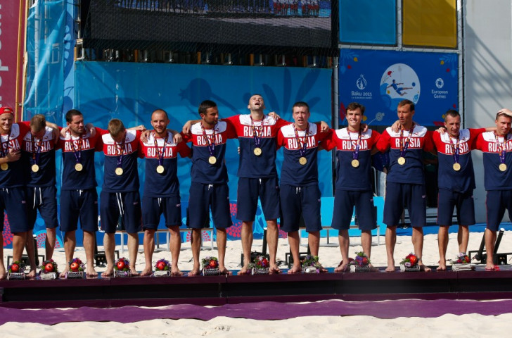 Russia survive Italian beach soccer fightback to win final gold of Baku 2015