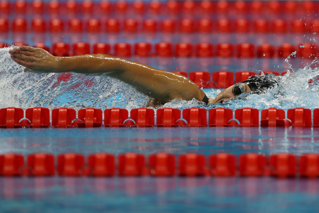 The United States' Rebecca Meyers, who won three gold medals and set two world records at the Rio 2016 Paralympic Games, has welcomed the announcement of the Para-swimming World Series ©Getty Images