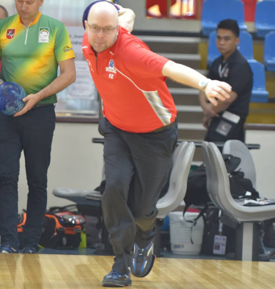 Jesper Agerbo of Denmark hit six strikes in a row to help win the men's singles crown at the World Bowling Championship ©World Bowling Instagram