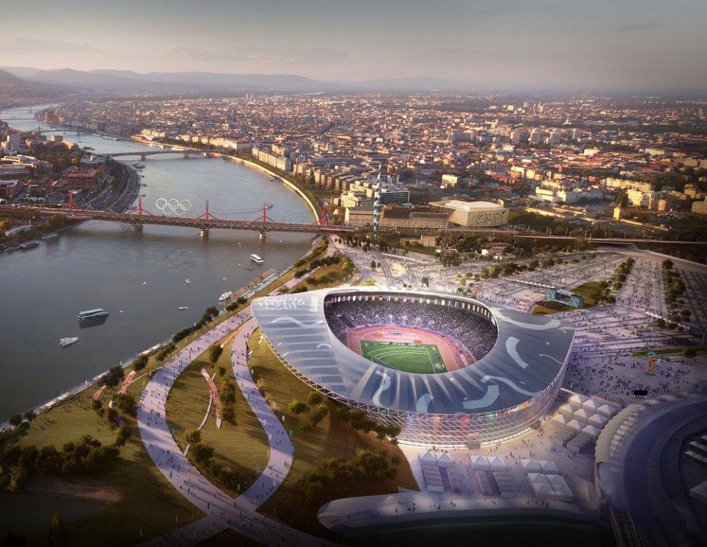Budapest 2024 release images of Aquatics Centre and proposed Olympic Park