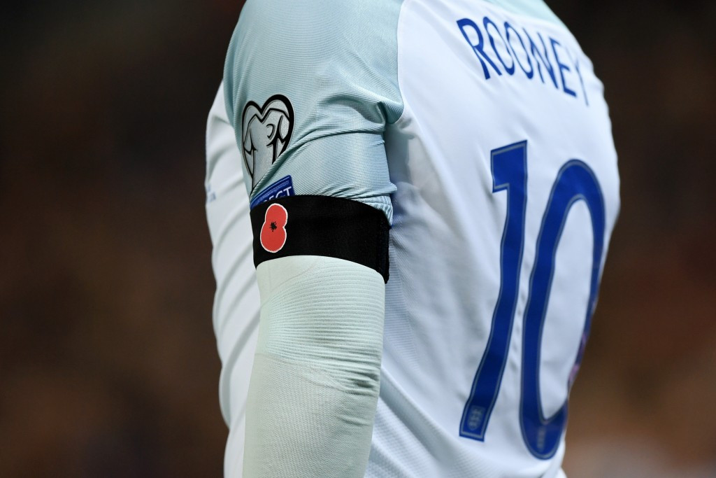 FIFA has fined the Football Associations in England and Scotland after players from both countries wore armbands depicting poppies during last month's 2018 World Cup qualifier ©Getty Images