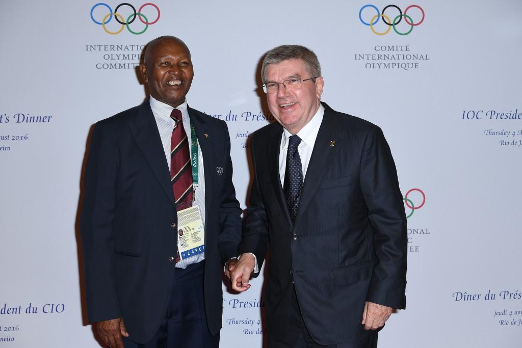 NOCK President Kipchoge Keino (left) alongside IOC counterpart Thomas Bach ©Getty Images