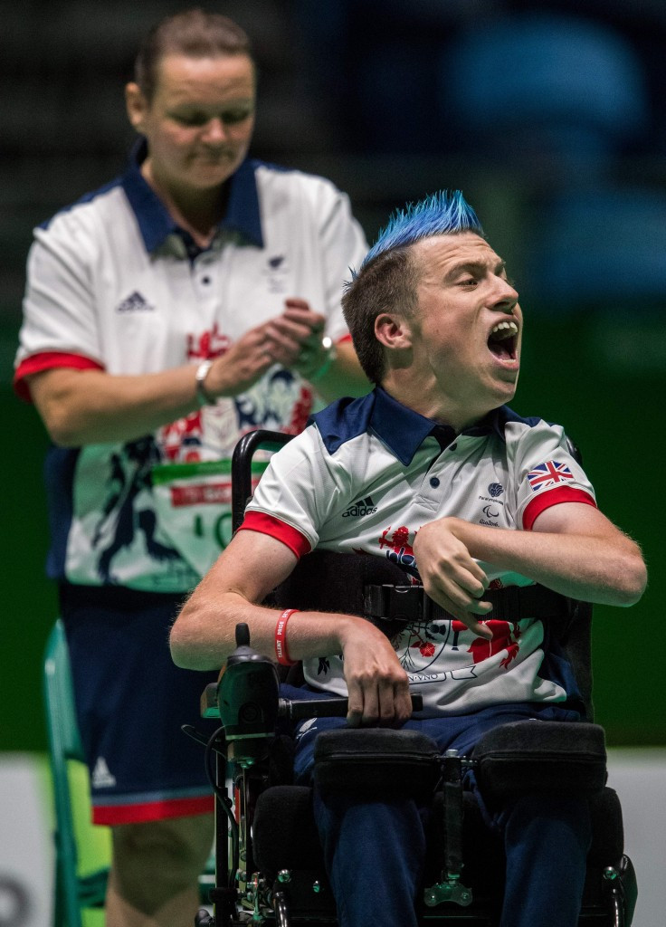 David Smith beat Daniel Perez in the BC1 final at the Rio 2016 Paralympic Games ©Getty Images