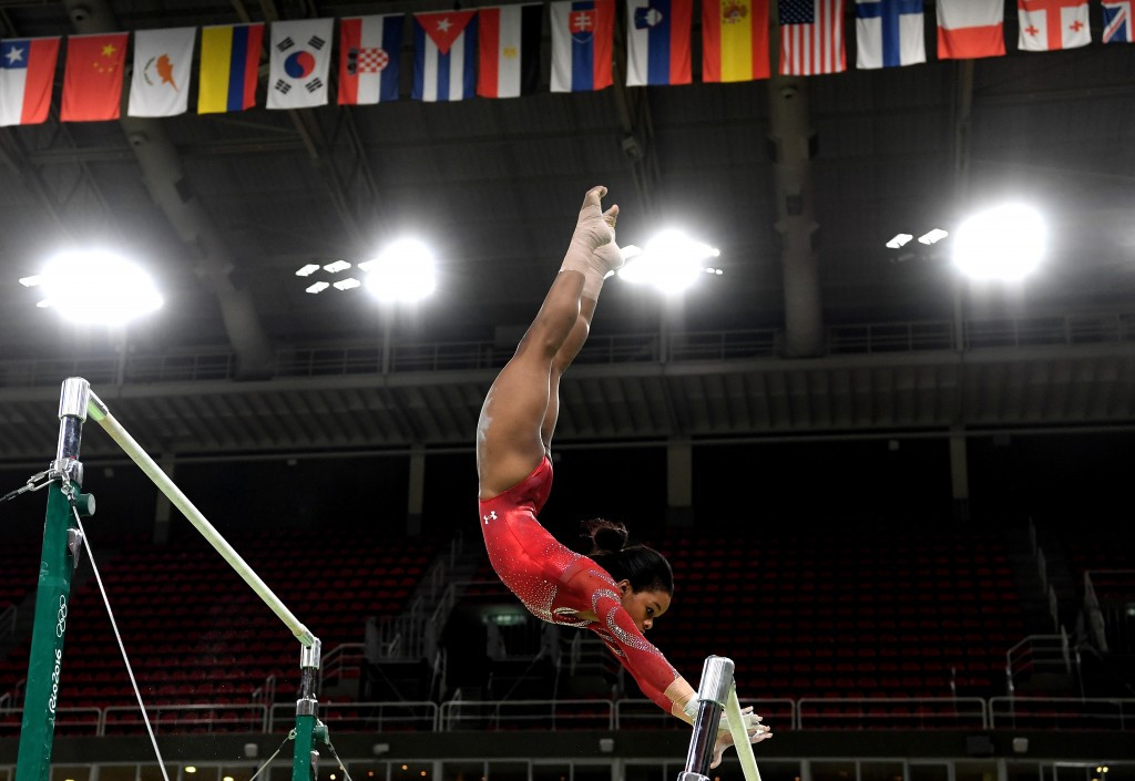 Gabby Douglas was fiercely criticised online during the Rio 2016 Olympic Games ©Getty Images