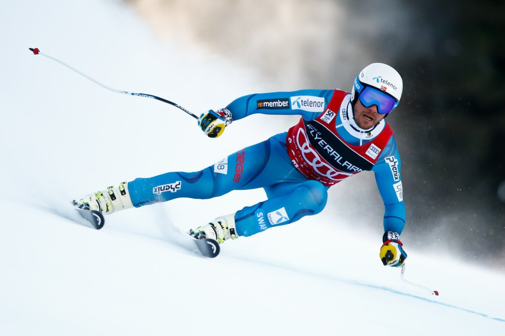 Norway's Kjetil Jansrud secured his third consecutive super-G victory of the season ©Getty Images