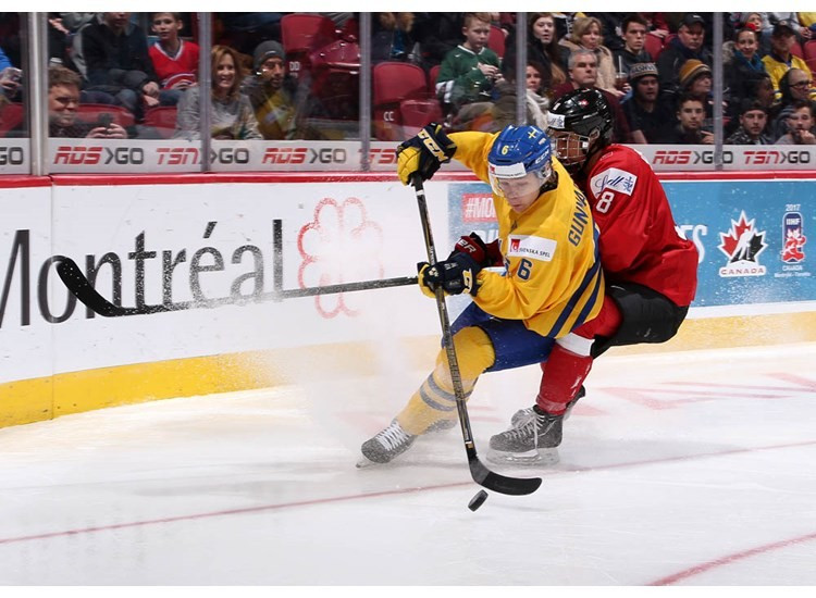 Sweden secured their second win of the tournament as they overcame Switzerland ©IIHF
