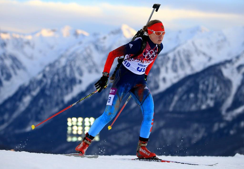 Biathlete Romanova denies doping as Mutko urges caution to officials when giving interviews