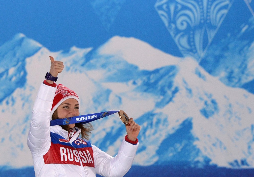 Elena Nikitina won skeleton bronze at the Sochi 2014 Winter Olympic Games ©Getty Images