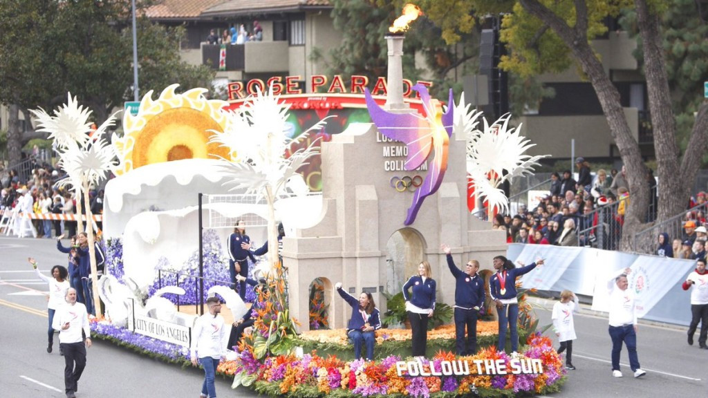 Los Angeles 2024 has used California's annual Tournament of Roses Parade and Rose Bowl college football game to promote the city's bid for the Olympic and Paralympic Games ©LA 2024/Twitter