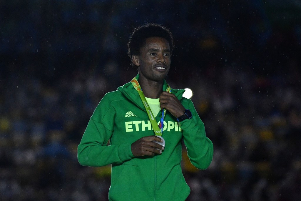 Feyisa Lilesa has not returned to Ethiopia since winning Olympic marathon silver at Rio 2016 ©Getty Images