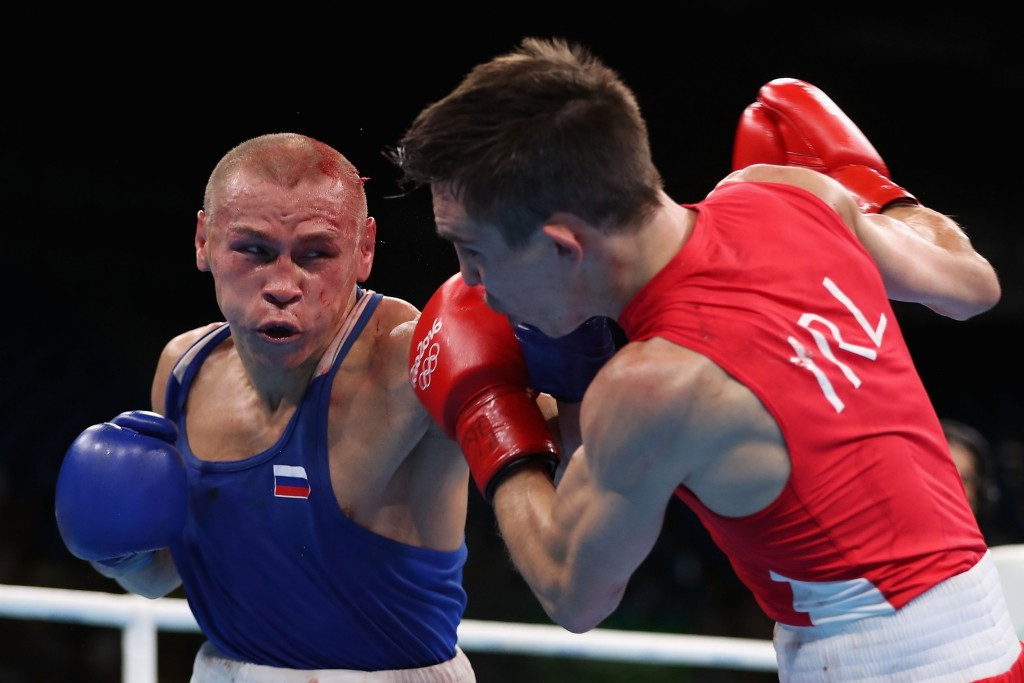 Michael Conlan (right) was involved in one of several controversial moments involving the Irish boxing team at Rio 2016 ©Getty Images