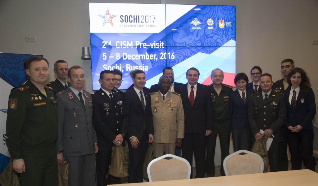 CISM officials visit Sochi as part of an inspection visit last month ©CISM