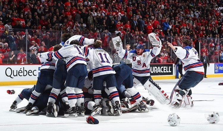 Matt Terry scored the decisive shootout point to secure victory for the Americans ©IIHF