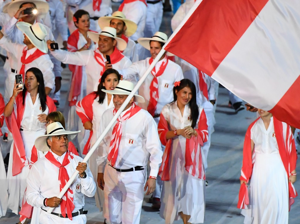 Francisco Boza Dibós also carried the Peruvian flag at the Opening Ceremony of Rio 2016 ©Getty Images