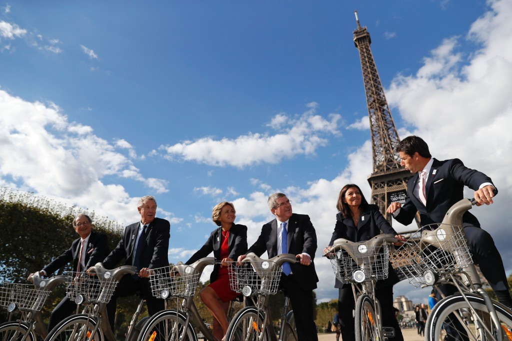 IOC President Thomas Bach visited Paris last October ©Getty Images