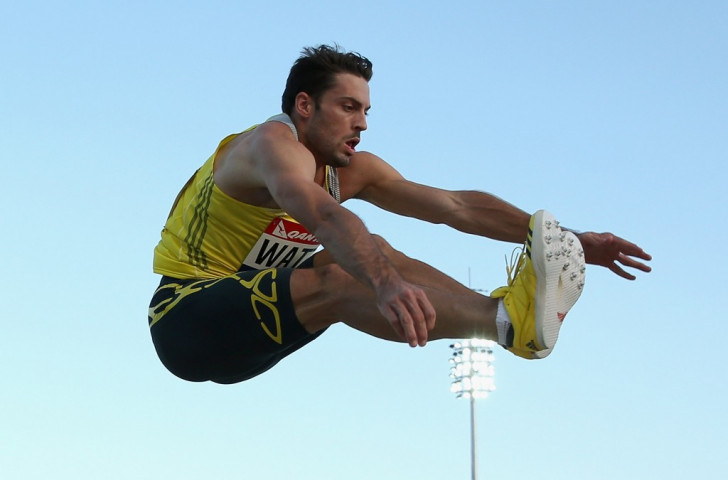 Australia's Mitchell Watt in the long jump event at Melbourne in 2013. Long jumpers in Nitro Athletics will earn extra points for surpassing a nominated distance ©Getty Images