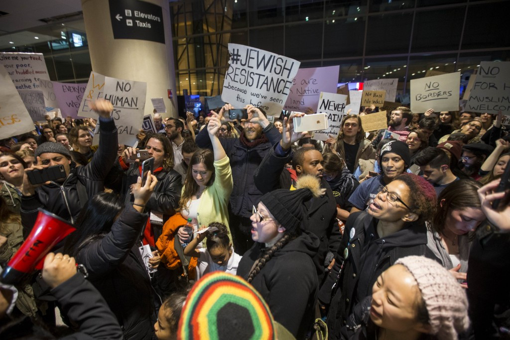 The executive order has sparked protests across the United States ©Getty Images