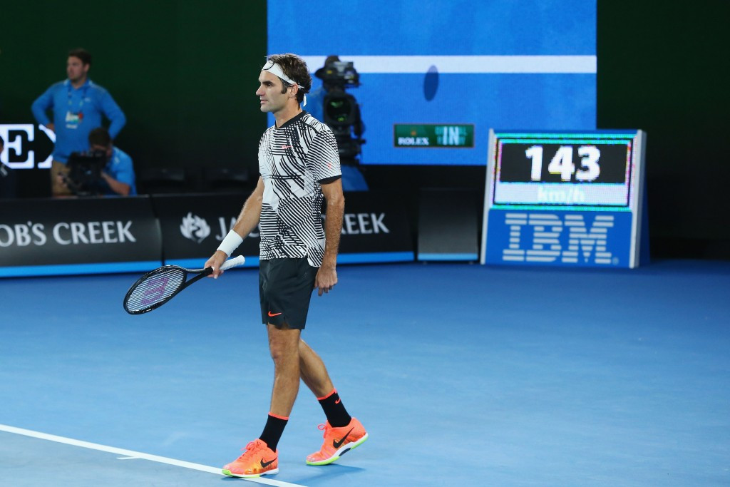 Roger Federer had to dig deep from a break down in the final set ©Getty Images