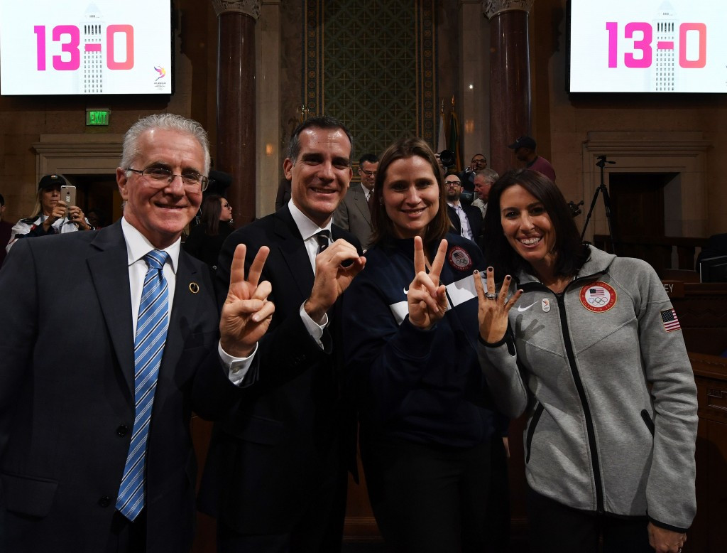 Los Angeles 2024 was recently given final unanimous approval from the City Council ©Getty Images
