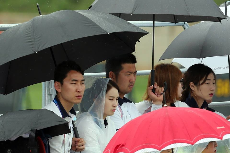 It was another successful day for hosts South Korea today, despite heavy rain at many of the venues