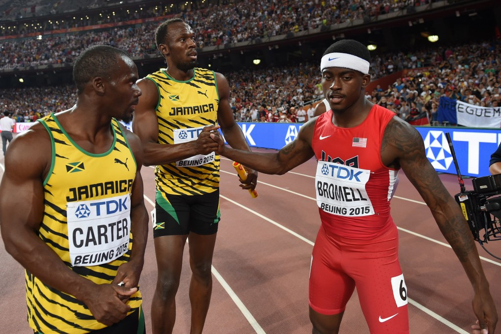 Jamaican sprinter Nesta Carter is set to compete for the first time since he was stripped of his Beijing 2008 Olympic gold medal ©Getty Images