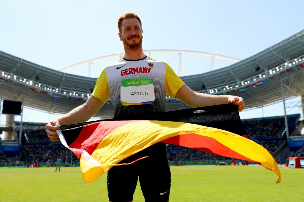 Christoph Harting won the Olympic men's discus title at the Rio Olympics ©Getty Images
