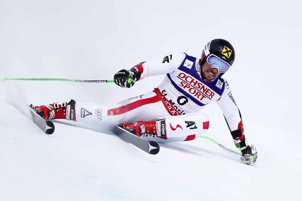 Marcel Hirscher won the men's giant slalom event at the FIS World Alpine Skiing Championships today ©Getty Images