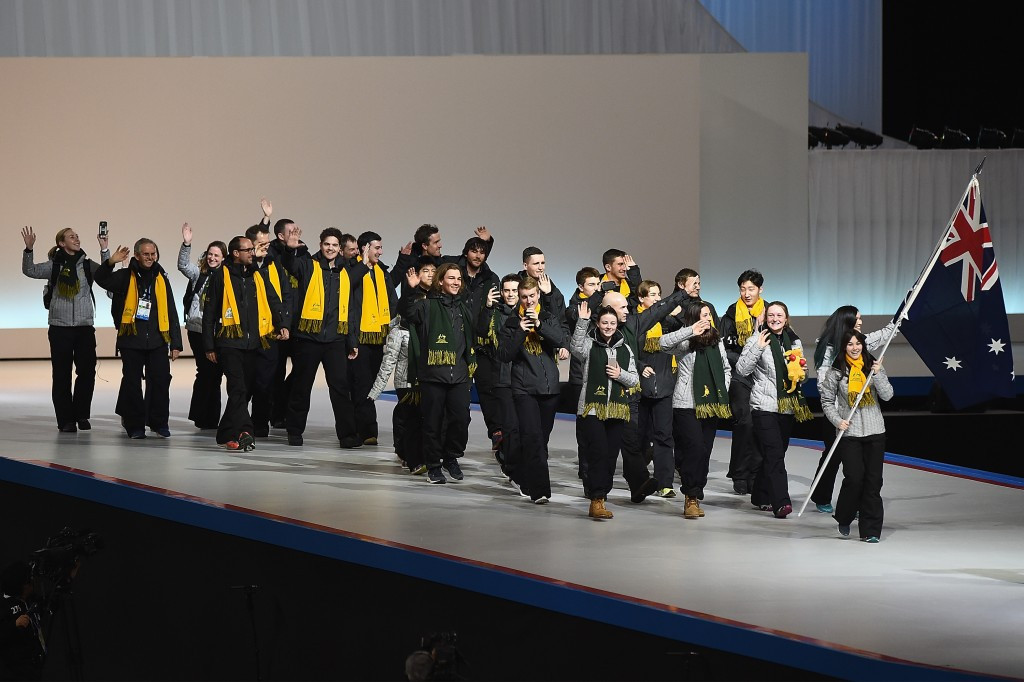 Australian athletes parading at the Opening Ceremony of the Asian Winter Games ©Getty Images