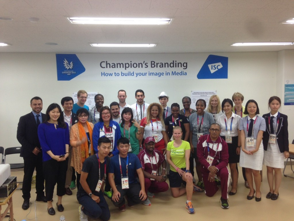 Gwangju 2015 student athletes take part in education programme aimed at developing a better image in media